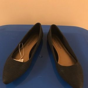 New Christian Siriano with tags black flats Size 7